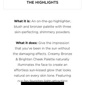 PUR Cosmetics Makeup - Pur- bronze and highlight and blush palette